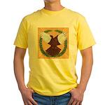 Flight Pigeon Wreath Yellow T-Shirt