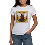 Flight Pigeon Wreath Women's T-Shirt