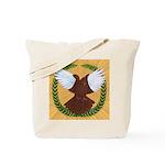Flight Pigeon Wreath Tote Bag