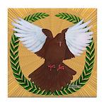 Flight Pigeon Wreath Tile Coaster