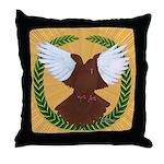 Flight Pigeon Wreath Throw Pillow