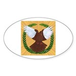 Flight Pigeon Wreath Oval Sticker (10 pk)