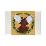Flight Pigeon Wreath Rectangle Magnet (10 pack)