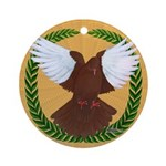 Flight Pigeon Wreath Ornament (Round)