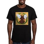 Flight Pigeon Wreath Men's Fitted T-Shirt (dark)