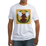 Flight Pigeon Wreath Fitted T-Shirt