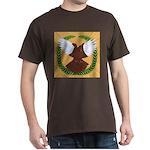 Flight Pigeon Wreath Dark T-Shirt