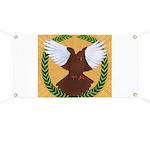 Flight Pigeon Wreath Banner