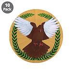 "Flight Pigeon Wreath 3.5"" Button (10 pack)"