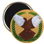 "Flight Pigeon Wreath 2.25"" Magnet (10 pack)"