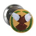 "Flight Pigeon Wreath 2.25"" Button (10 pack)"