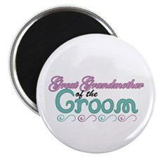 "Great Grandmother of the Groom 2.25"" Magnet (10 pa"