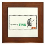 """1946 Fisk Tire Ad"" Framed Tile"