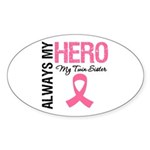 AlwaysMyHero Twin Sister Oval Sticker (10 pk)