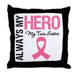 AlwaysMyHero Twin Sister Throw Pillow