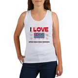 I Love British Indian Ocean Territory Women's Tank
