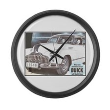 """1946 Buick Ad"" Large Wall Clock"