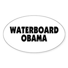 Waterboard Obama Oval Decal