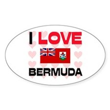 I Love Bermuda Oval Decal