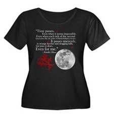 New Moon Women's Plus Size Scoop Neck Dark T-Shirt