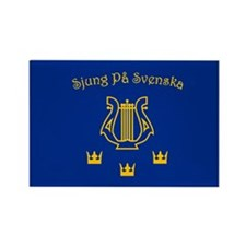 Sjung pa Svenska Rectangle Magnet
