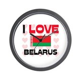 I Love Belarus Wall Clock