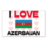 I Love Azerbaijan Rectangle Decal