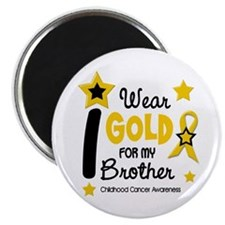 "I Wear Gold 12 Brother CHILD CANCER 2.25"" Magnet ("