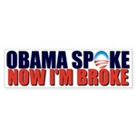 Obama Spoke Bumper Sticker