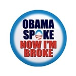 "Obama Spoke 3.5"" Button (100 pack)"