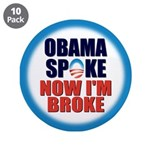 "Obama Spoke 3.5"" Button (10 pack)"