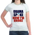Obama Spoke Jr. Ringer T-Shirt