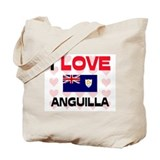I Love Anguilla Tote Bag