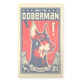 Doberman Patriotism! Rectangle Decal