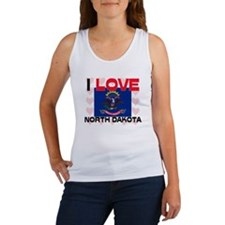 I Love North Dakota Women's Tank Top