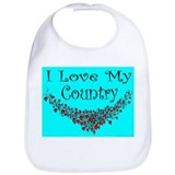 I Love My Country Bib