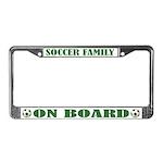 Soccer Family License Plate Frame