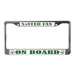 Soccer Fan License Plate Frame