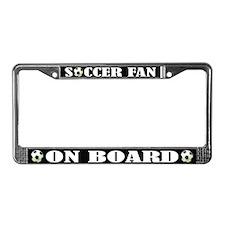 Fun Soccer Fan License Plate Frame