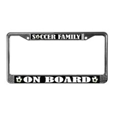 Fun Soccer Family License Plate Frame