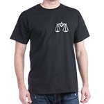 Masonic Scales of Justice Black T-Shirt
