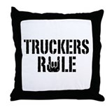 Truckers Rule Throw Pillow