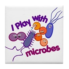 Play with Microbes Tile Coaster