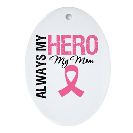 AlwaysMyHero Mom Oval Ornament