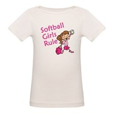 Softball girls Rule Tee