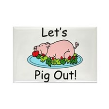Pig Out Rectangle Magnet (100 pack)