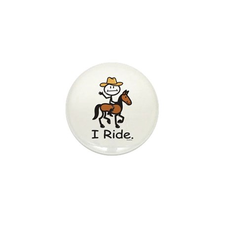 Western horse riding Mini Button