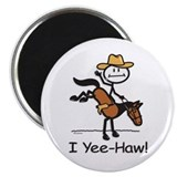 Horse Cowboy 2.25&quot; Magnet (100 pack)