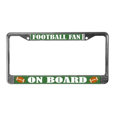 Fun Football License Plate Frame