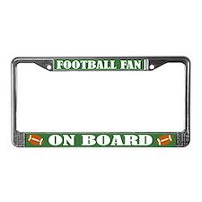 Fun Football License Plate Frame